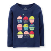 Carter's® Long-Sleeve Graphic Cupcake Tee – Girls 2t-5t