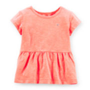 Carter's® Cap-Sleeve Peplum Tee – Girls 2t-5t