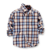 Carter's® Long-Sleeve Plaid Button-Front Shirt – Boys 2t-5t