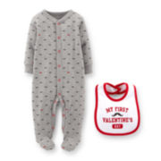 Carter's® Valentines Snap-Up Sleep & Play Set – Boys newborn-9m