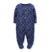 Carter's® Heart-Print Snap-up Sleep & Play - Girls newborn-9m