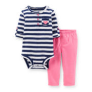 Carter's® Roll-Tab Sleeve Bodysuit and Pants Set - Girls newborn-24m