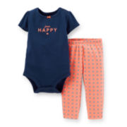 Carter's® Short-Sleeve Bodysuit and Pants Set - Girls newborn-24m