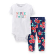 Carter's® Short-Sleeve Bodysuit and French Terry Pants Set – Girls newborn-24m