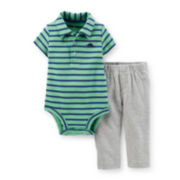 Carter's® Short-Sleeve Polo Bodysuit and Pants Set – Boys newborn-24m