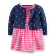 Carter's® Short-Sleeve Bodysuit Dress and Cardigan Set - Girls newborn-24m