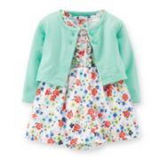 Carter's® Short-Sleeve Bodysuit Dress and Cardigan Set – Girls newborn-24m