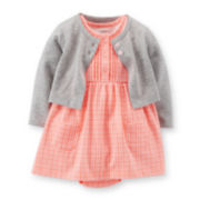 Carter's® 2-piece Dress and Cardigan Set – Girls newborn-24m