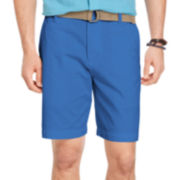 IZOD® Belted Twill Shorts
