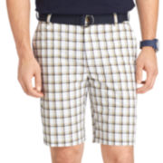IZOD® Belted Plaid Shorts