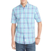 IZOD® Short-Sleeve Large Plaid Shirt