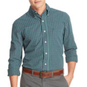 IZOD® Long-Sleeve Small Plaid Woven Shirt