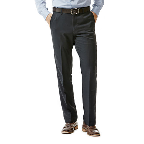 Haggar® Performance Microfiber Flat-Front Pants - Big & Tall