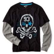 Arizona Long-Sleeve Graphic Doubler Tee – Boys 6-18