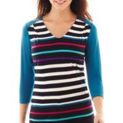 Worthington® 3/4-Sleeve V-Neck Top
