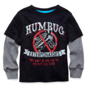 Arizona Long-Sleeve Graphic Knit Tee - Boys 2t-6
