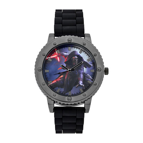 Star Wars® Mens Black Strap Watch