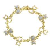 Classic Treasures™ Diamond-Accent 18K Gold Over Brass Cat Bracelet