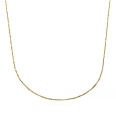 jcpenney.com | Unisex 14K Yellow Gold Round Box Chain