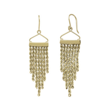 jcpenney.com | 14K Yellow Gold Graduated Rope Drop Earrings