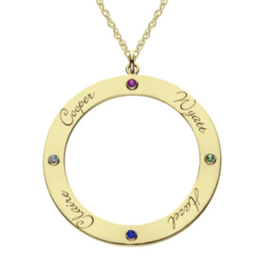jcpenney.com | Personalized 14K Gold Over Silver Pendant Necklace