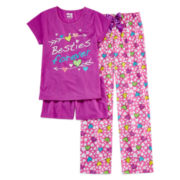 Sleep On It 3-pc. Besties Pajama Set - Girls 4-16