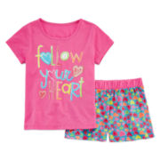 Sleep On It Heart Pajama Set - Girls 4-16