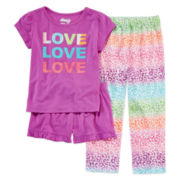 Sleep On It 3-pc. Love Leopard Pajama Set - Toddler Girls 2t-4t