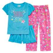 Sleep On It 3-pc. Star Pajama Set - Toddler Girls 2t-4t