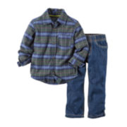 Carter's® Plaid Shirt and Pants - Baby Boys newborn-24m
