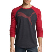 Puma® Long-Sleeve Raglan Tee