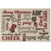 Holiday Text Rectangular rug