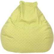 Cotton Zigzag Teardrop Beanbag