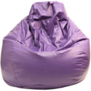 Faux-Leather Teardrop Beanbag