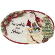Fitz and Floyd® Night Before Christmas Santa Sentiment Serving Platter