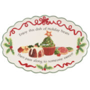 Fitz and Floyd® Holiday Treats Cookie Serving Platter