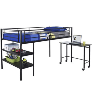 jcpenney.com | Pearson Twin Loft Bed With Desk and Shelves