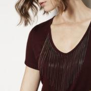 BELLE + SKY™ Chain Fringe T-Shirt
