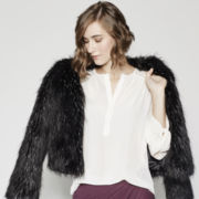BELLE + SKY™ Faux-Fur Jacket