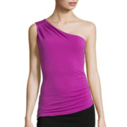 Bisou Bisou® Sleeveless One-Shoulder Top