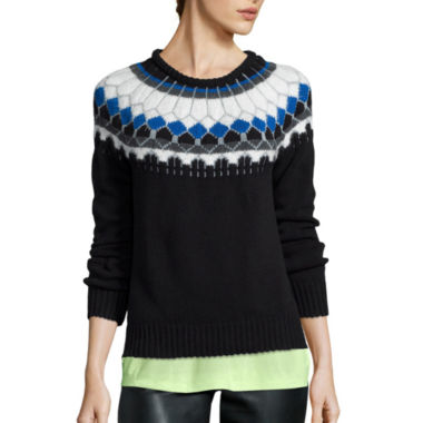 jcpenney.com | a.n.a® Long-Sleeve Fairisle Pullover Sweater