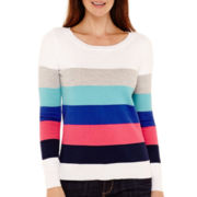 Liz Claiborne® Long-Sleeve Striped Sweater