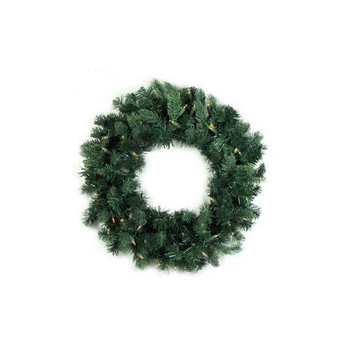"36"" Pre-Lit Washington Frasier Fir Artificial Christmas Wreath with Clear Lights"