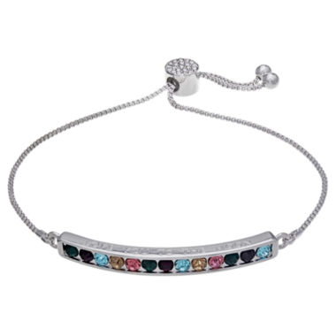 jcpenney.com | Sparkle Allure Womens Multi Color Crystal Stretch Bracelet