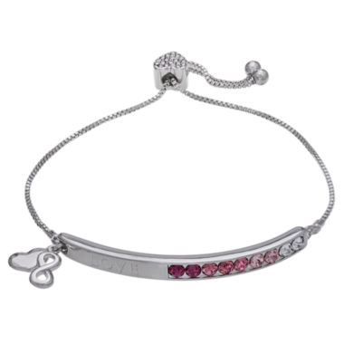 jcpenney.com | Sparkle Allure Womens Pink Crystal Stretch Bracelet
