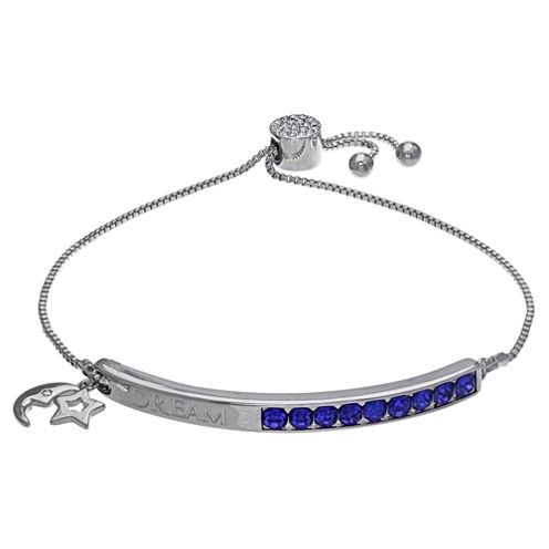 Sparkle Allure Womens Blue Crystal Stretch Bracelet