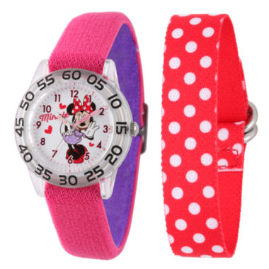 jcpenney.com | Disney Minnie Mouse Girls Pink Strap Watch-W002159
