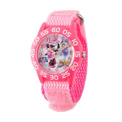 Disney Minnie Mouse Girls Pink Strap Watch-W001661