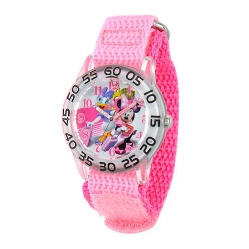 Disney Minnie Mouse Girls Pink Strap Watch-W001662