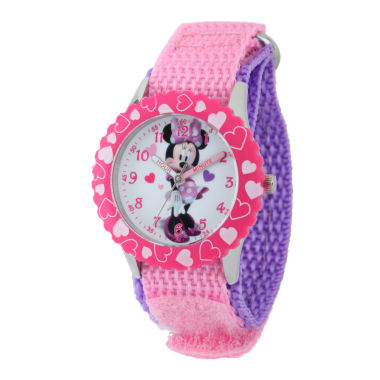 jcpenney.com | Disney Minnie Mouse Girls Pink Strap Watch-W001919